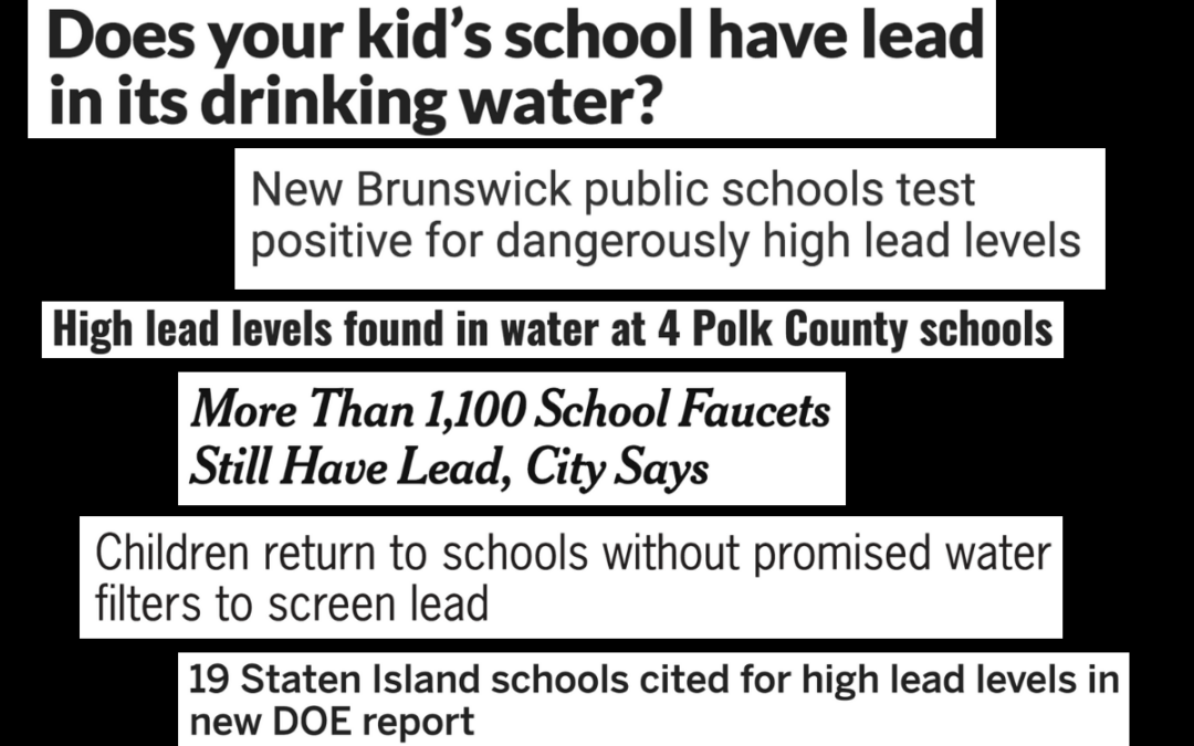 Schools Across the U.S. Dealing with Lead Contamination in Drinking Water